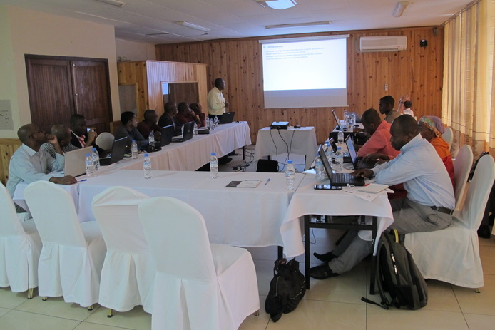 Project planning meeting in Comoros, at which participants first agreed to establish a national invasive species committee.